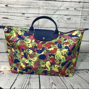 Longchamp x Jeremy Scott Humpty Dumpty travel bag